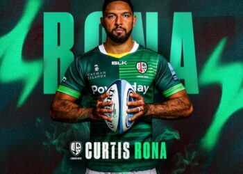 Curtis Rona has become the latest London Irish star to commit his future to the club. Photo: Twitter @londonirish