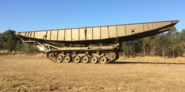 The bridge-laying tank. Photo credit: Lloyds Auctioneers and Valuers