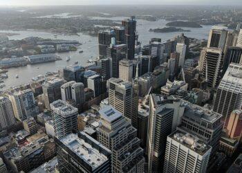 Sydney CBD from the Sydney Tower Observation Deck. Photo credit: MDRX via Wikipedia