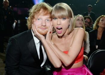 Ed Sheeran shares clip of him re-recording Taylor Swift Red duet