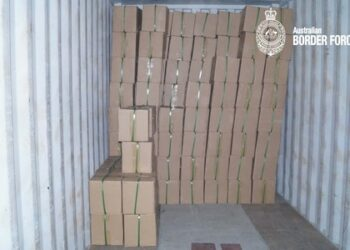Part of the consignment of ephedrine intercepted by the Australian Border Force. Photo credit: ABF