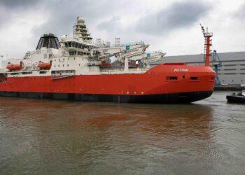 Australia's new Antarctic icebreaker, RSV Nuyina. Photo credit: Australian Antarctic Division